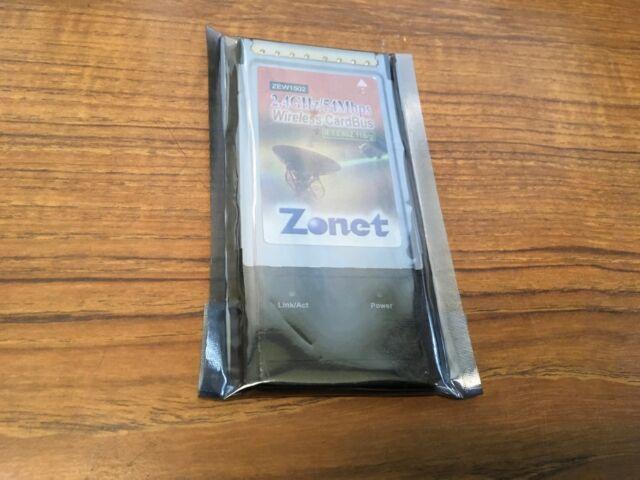 NEW ZONET ZEW1502 24 5GHZ WIRELESS PCMCIA ADAPTER