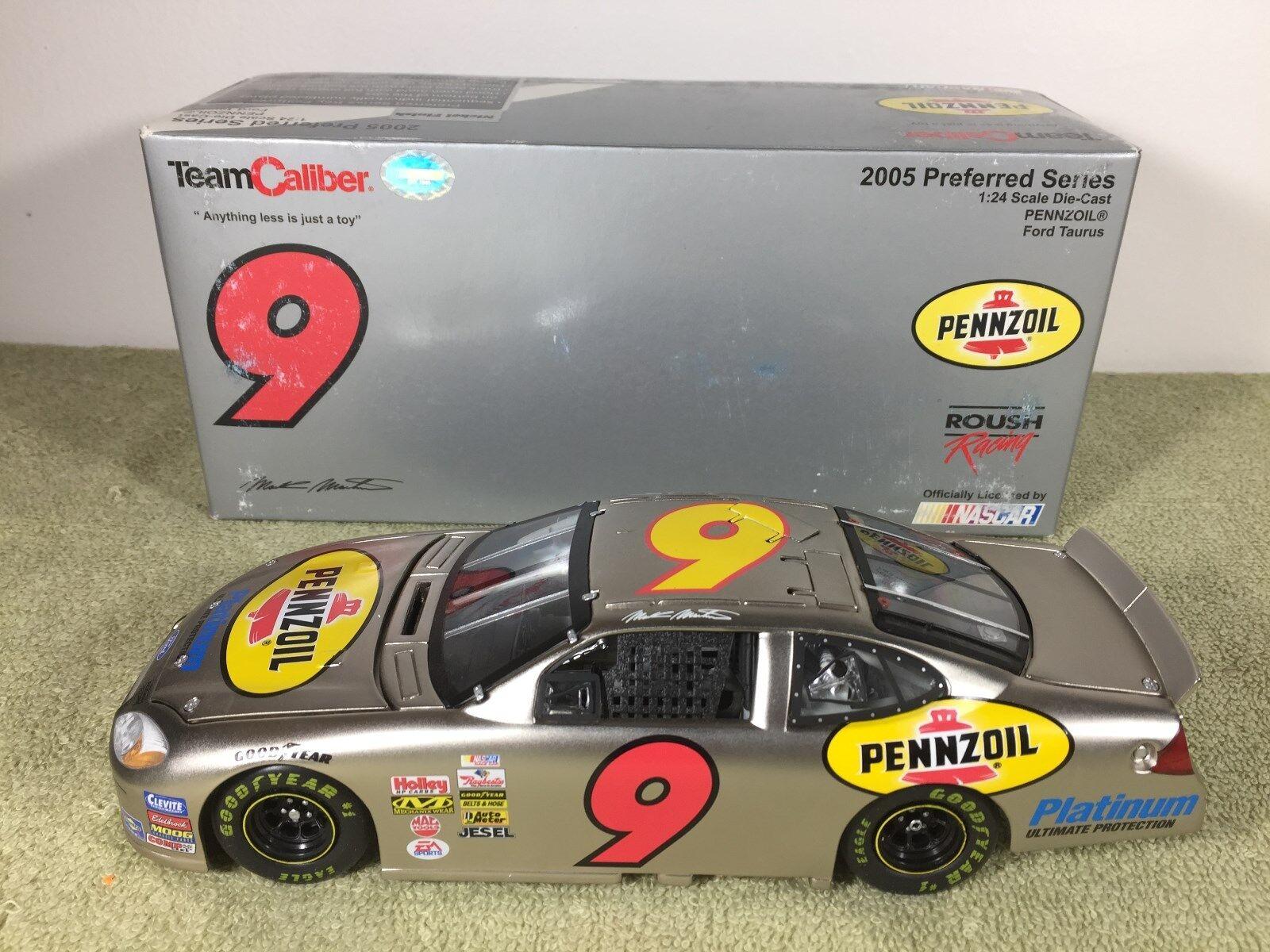 echa un vistazo a los más baratos 2005 equipo de de de calibre Mark Martin NasCoche Diecast acabado níquel  9 Pennzoil 1 24 9A  el más barato