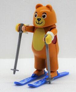 Amusants Figurine Dans Oursons Déguisement Sur Ski Playmobil à Hiver École