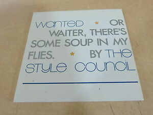 PAUL-WELLER-THE-STYLE-COUNCIL-WANTED-CARDBOARD-RARE-CD