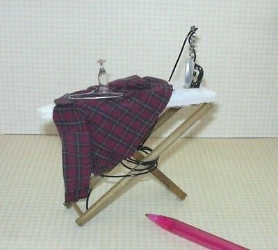 Miniature Blue PLAID Slippers for the MAN of the DOLLHOUSE Miniatures 1:12 Scale