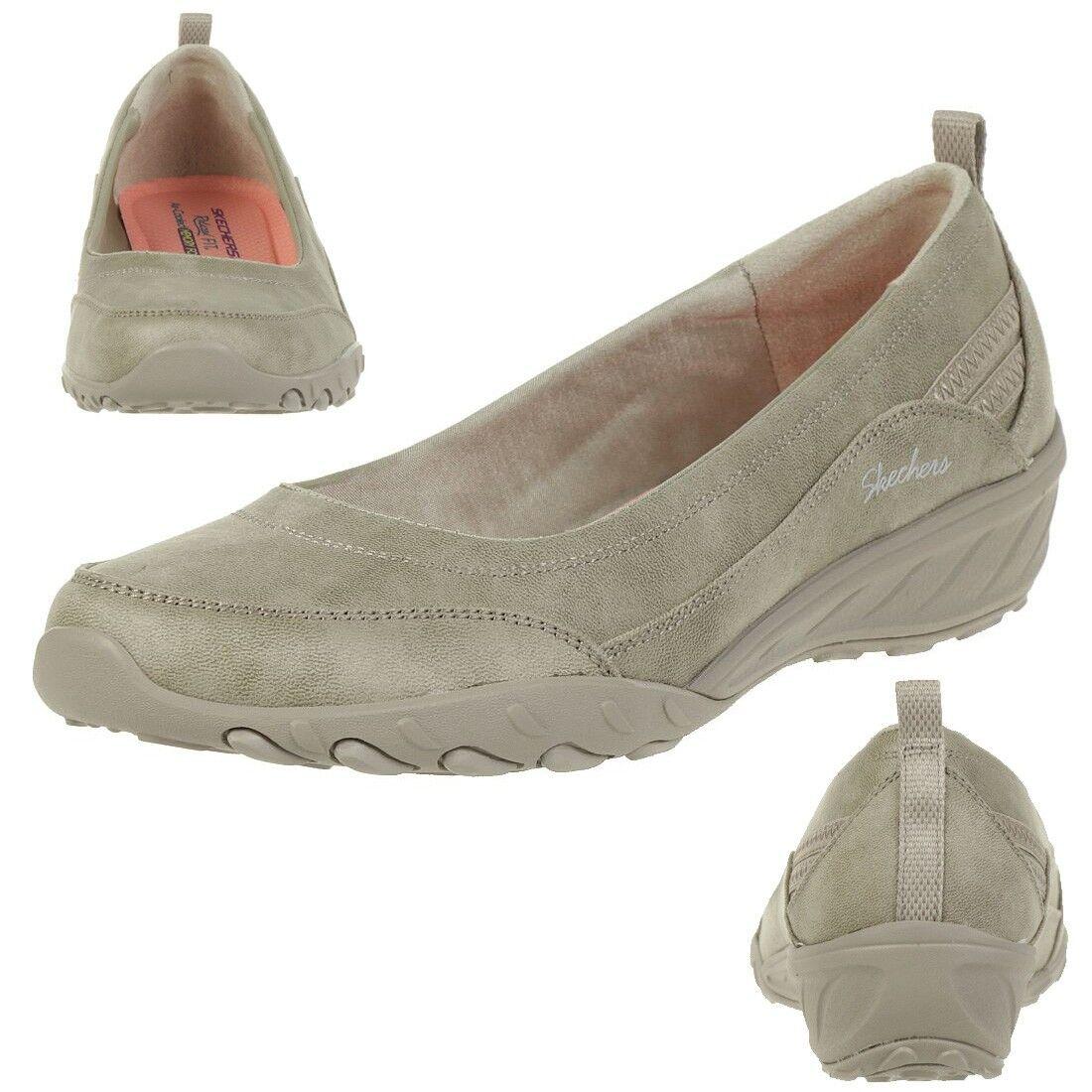 Skechers Relaxed Fit Savvy Nobodys Fool Ladies Slip on Slippers TPE Ballerinas