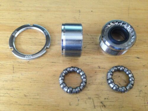 New Bottom Bracket Cups Italian Thread 36 x 24 Chrome w Lockring Bearings EROICA