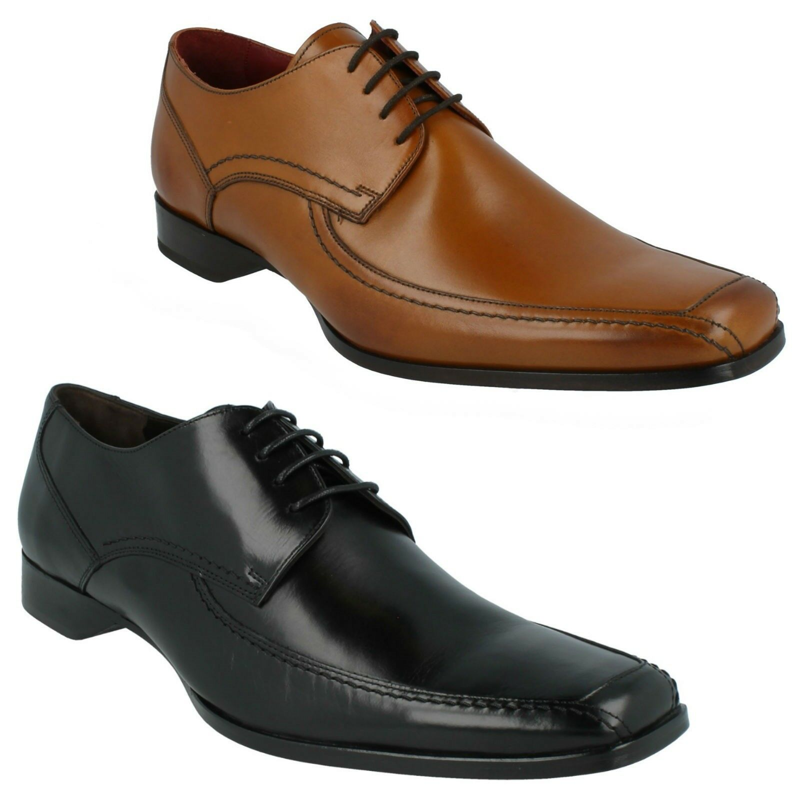 DESIGN LOAKE 1369B 1369T MENS LACE UP LEATHER SMART FORMAL CASUAL SHOES SIZE