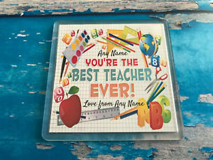 Best-Teacher-Ever-Personalised-Coaster-Add-your-teachers-name