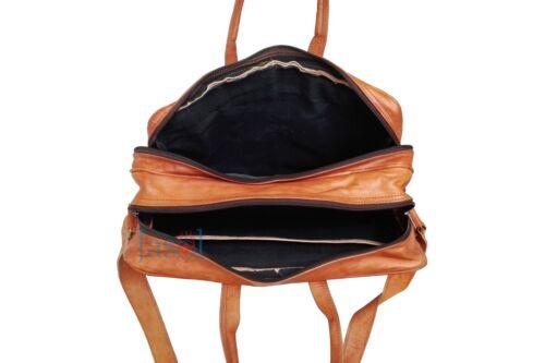 Men Vintage Style Leather Satchel School Military Shoulder Messenger Laptop Bag