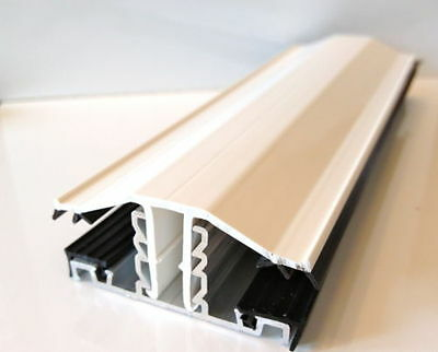 Snap Down Glazing Bar For Polycarbonate 10mm 16mm 25mm Various Lengths Colours