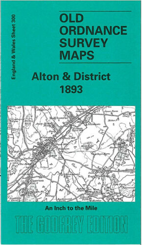 OLD ORDNANCE SURVEY MAP ALTON 1893 PETERSFIELD CHAWTON ITCHEN ABBAS SELBORNE