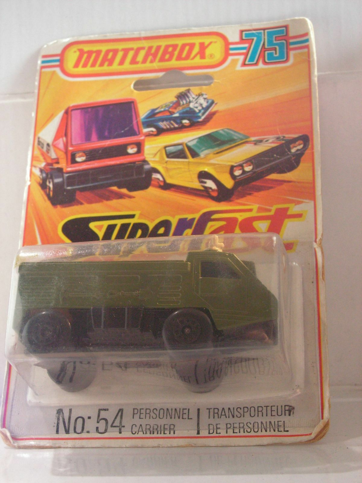 MATCHBOX PERSONNEL CARRIER 54 MIB NEUF BOITE superfast