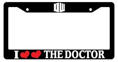 Black License Frame I Heart Heart The Doctor LOGO White Auto Doctor Who 1025