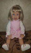 "Lee middleton doll 20""#091300 collectible 2000, pink dress, blonde blue eyes"