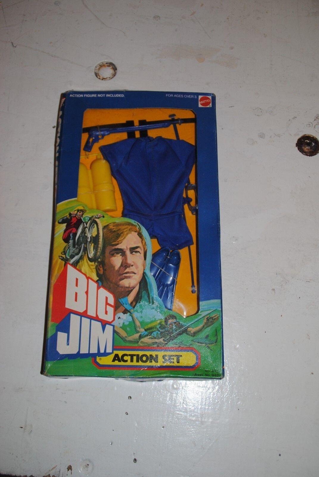 BIG JIM   MATTEL 9431     FROGMAN       RARE BOXED    SET