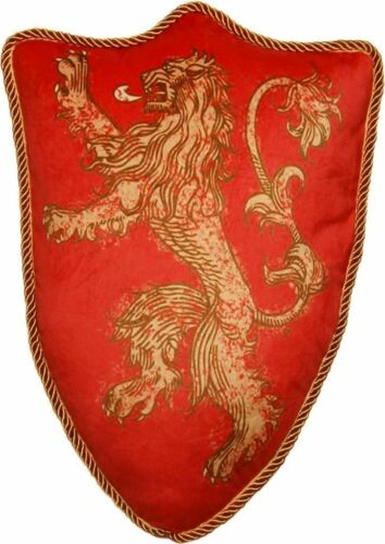 """LANNISTER Cushion Game Of Thrones 22/"""" House Sigil Throw Pillow"""