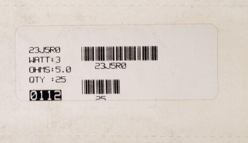 3 Watt  OHMITE Wirewound Silicone Ceramic RESISTORS Ohms Mult Sizes Qty 5