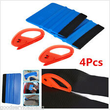 4 pcs Universal Safety Vinyl Cutter & 3M Felt Edge Squeegee Car Wrapping Tools