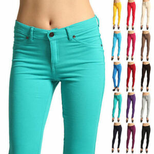 Womens-Ladies-Casual-Skinny-Leg-Jeggings-Pencil-Pants-Stretchy-Trousers-Jeans-US