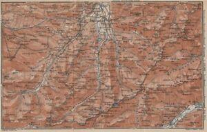Europe Maps Mittelberg Riezlern Allgäu Bayerische Alpen Karte 1927 Map Easy And Simple To Handle Alert Oberstdorf Environs