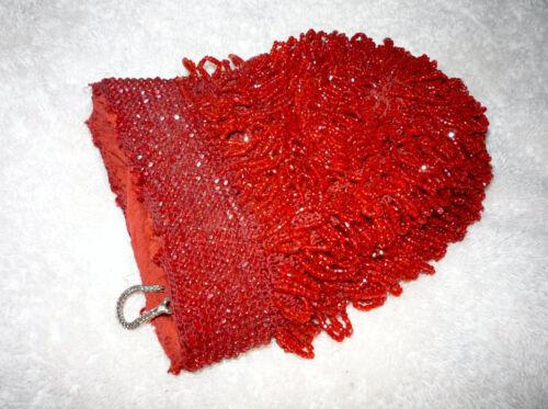 Flapper 1900's Zilveren Handtas Drop Portemonnee Red Handtas Beaded Tear Beads Clutch KucTlF1J3