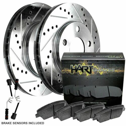 Fits 2007-2012 Mercedes-Benz SL550 Rear Drill Slot Brake Rotors+Ceramic Pads