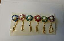 6 pcs Hijab Pins Girls Ladies Hair Scarf Safety Pin Womens Brooch wholesale12
