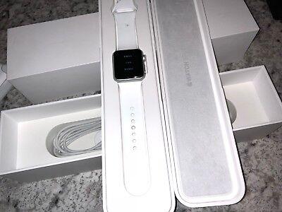 Apple Watch Sport 38mm Silver Aluminum White Sport Series 1 1st Gen A1553 PARTS