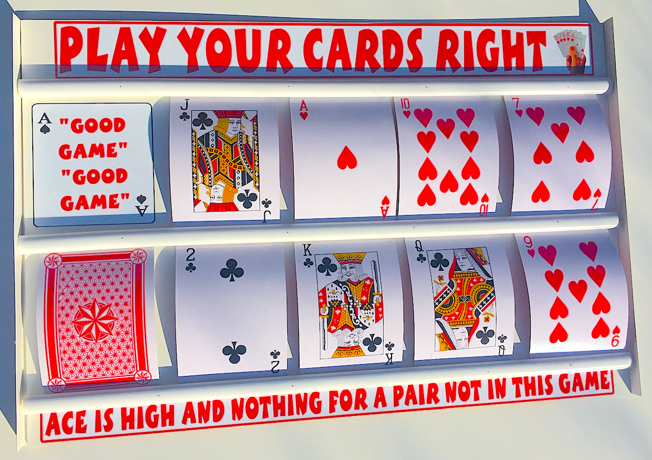 Higher lower play your cards right right right game with large playing cards CHRISTMAS FUN f023d3
