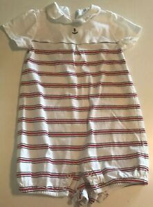 Janie And Jack Boys One Piece Romper Size 18-24 Months READ