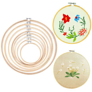 Bamboo-Wooden-Hoop-Circle-Cross-Stitch-Embroidery-DIY-Craft-Sewing-Needwork-PM