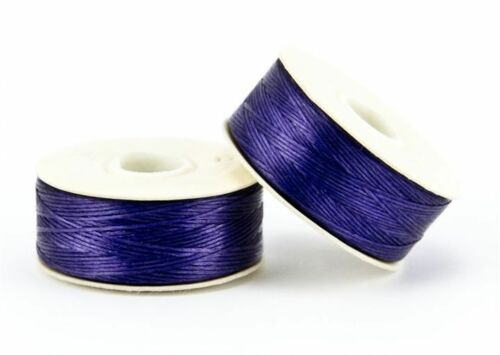 Black Nymo White Sterling Nymo Beading Thread Size B pre-waxed Nymo 66m Bobbin