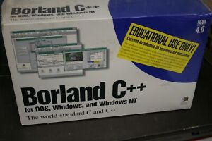 Borland-C-4-0-for-Dos-Windows-Win-NT-BRAND-NEW-AND-SEALED-INCLUDES-3-5-disks