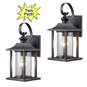Image Is Loading Black Outdoor Patio Porch Exterior Light Fixtures Twin