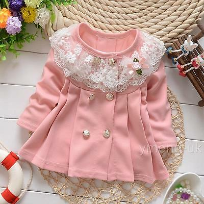 Pink Baby Girl Jacket Lace Collar/Coat/Pink/Lemon/Outfits