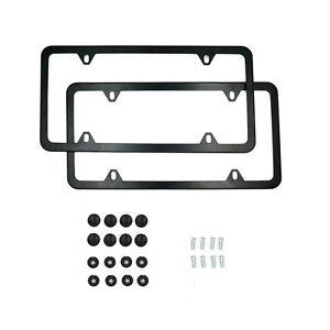 2pcs Stainless Steel Metal License Plate Frame Tag Cover