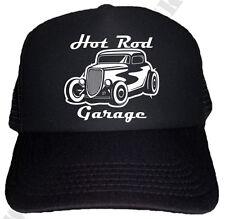 Hot Rod Garage Half Mesh Trucker Cap US Car Rockabilly V8 Old School Hut Basebal