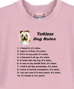 bccd2a9dc550 Dog T Shirt - Yorktese Dog Rules - Adopt Rescue Animal Friend Cat ...