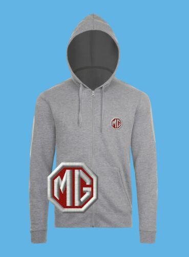 MG Cars Morris Garages Hoodie EMBROIDERED Auto Logo Sweatshirt Mens Motors Spors