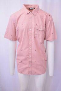 Vans-Off-The-Wall-Men-039-s-Autumn-Glaze-Cross-Hatch-B-S-S-Woven-Shirt-Retail-42