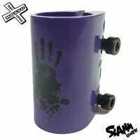 Slamm Scooters Quad Clamp Scooter Standard Size Purple Aluminium Brand