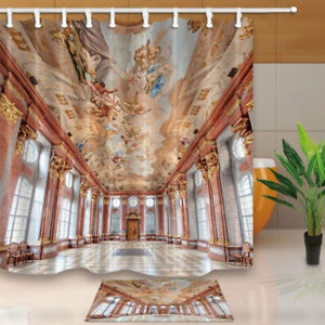 Image Is Loading Church Roof Murals Shower Curtain Bathroom Decor Polyester