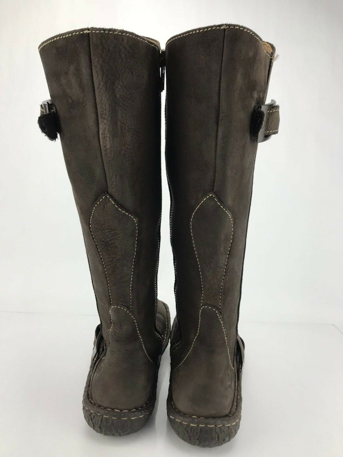 Born Tall Stiefel Stiefel Stiefel braun Leather Side Zipper Calf High Casual damen Größe 6.5 5aaf30