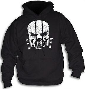 Skull-Urban-Riot-Fear-Distressed-Tear-Gas-Mask-Militia-Mens-Hooded-Top-Sm-2XL