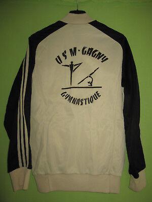 VESTE ADIDAS VENTEX USM Gagny Gymnastique 70'S creme Vintage