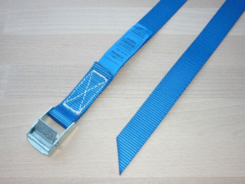 Spanngurte 25mm x 55cm Zurrgurte blau Fahrradträger Befestigungsriemen 4St
