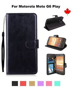 For-Motorola-Moto-G6-Play-Wallet-stand-Leather-Credit-Card-Slots-Case-Cover