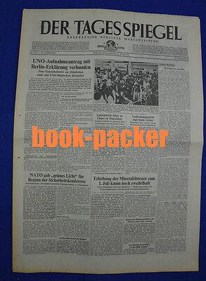Der Tagesspiegel 16.6.1973 Uno-aufnahmeantrag Mit Berlin-erklärung Verbunden Antiquitäten & Kunst Ab 1945