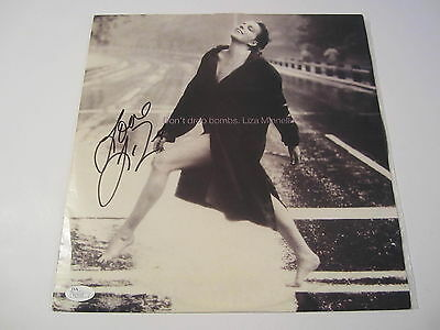 Liza Minnelli Don't Drop Bombs Signed Autographed Record Cover Jsa Coa Records Music
