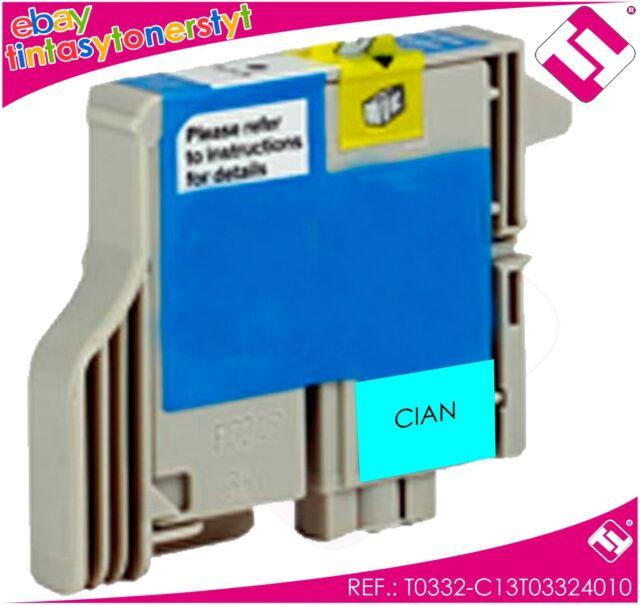 Ink Cyan T0332 Printer Stylus Photo 960 Cartridge Cyan Compatible