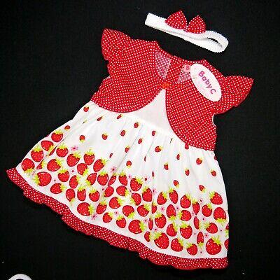 Herrlich Süßes 3 Tlg. Mädchen Sommer Kleid (erdbeere ) Gr. 74,80,86 Gute QualitäT