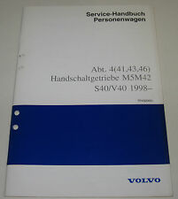 Werkstatthandbuch Volvo S40 V40 S 40 V 40 Handschaltgetriebe Getriebe ab 1998!