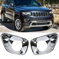 Fashion Chrome Front Fog Lamp Light Cover Trim For Jeep Grand Cherokee 2011-2013